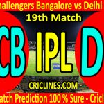 Today Match Prediction-Royal Challengers Bangalore vs Delhi Capitals-IPL T20 2020-19th Match-Who Will Win