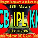 Today Match Prediction-Royal Challengers Bangalore vs Kolkata Knight Riders-IPL T20 2020-28th Match-Who Will Win