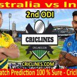 Today Match Prediction-Australia vs India-2nd ODI-Who Will Win