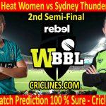Today Match Prediction-Brisbane Heat Women vs Sydney Thunder Women-WBBL T20 2020-2nd Semi-Final-Who Will Win