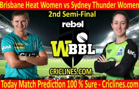 Today Match Prediction-Brisbane Heat Women vs Sydney Thunder Women-WBBL T20 2020-2nd Semi-Final-Who Will Win