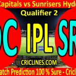 Today Match Prediction-Delhi Capitals vs Sunrisers Hyderabad-IPL T20 2020-Qualifier 2-Who Will Win