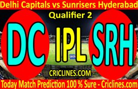 Today Match Prediction-Delhi Capitals vs Sunrisers Hyderabad-IPL T20 2020-Qualifier 2-Who Will Win