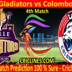 Today Match Prediction-Galle Gladiators vs Colombo Kings-LPL T20 2020-4th Match-Who Will Win
