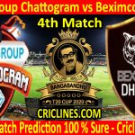 Today Match Prediction-Gazi Group Chattogram vs Beximco Dhaka-B T20 Cup 2020-4th Match-Who Will Win