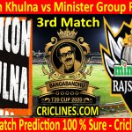 Today Match Prediction-Gemcon Khulna vs Minister Group Rajshahi-B T20 Cup 2020-3rd Match-Who Will Win