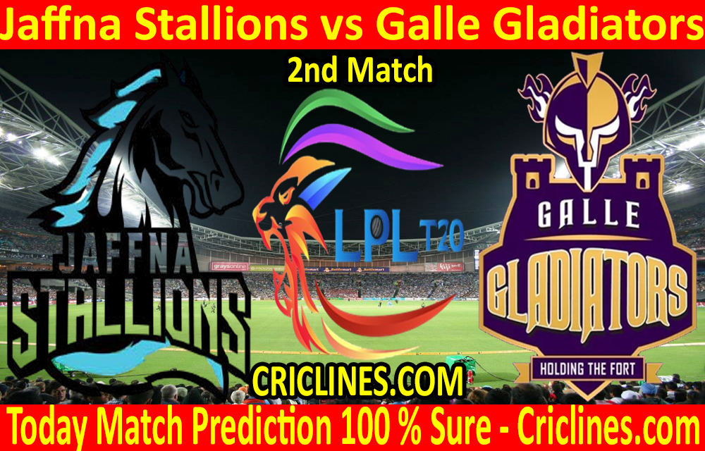 Today Match Prediction-Jaffna Stallions vs Galle Gladiators-LPL T20 2020-2nd Match-Who Will Win