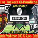 Today Match Prediction-Lions XI vs Tuskers XI-Pondicherry T20-4th Match-Who Will Win