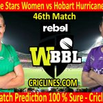 Today Match Prediction-Melbourne Stars Women vs Hobart Hurricanes Women-WBBL T20 2020-46th Match-Who Will Win