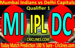 Today Match Prediction-Mumbai Indians vs Delhi Capitals-IPL T20 2020-Qualifier 1-Who Will Win