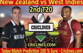 Today Match Prediction-New Zealand vs West Indies-2nd T20-Who Will Win