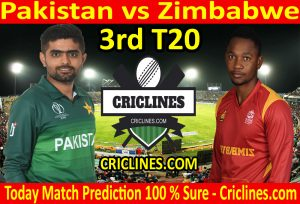 Today Match Prediction-Pakistan vs Zimbabwe-3rd T20-Who Will Win