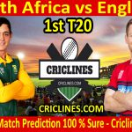 Today Match Prediction-South Africa vs England-1st T20 2020-Who Will Win