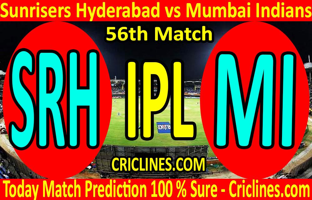 Today Match Prediction-Sunrisers Hyderabad vs Mumbai Indians-IPL T20 2020-56th Match-Who Will Win