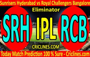 Today Match Prediction-Sunrisers Hyderabad vs Royal Challengers Bangalore-IPL T20 2020-Eliminator-Who Will Win