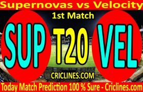 Today Match Prediction-Supernovas vs Velocity-Womens T20 Challenge-1st Match-Who Will Win