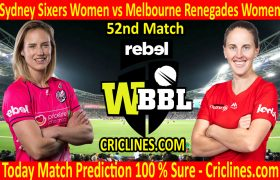 Today Match Prediction-Sydney Sixers Women vs Melbourne Renegades Women-WBBL T20 2020-52nd Match-Who Will Win
