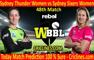Today Match Prediction-Sydney Thunder Women vs Sydney Sixers Women-WBBL T20 2020-48th Match-Who Will Win