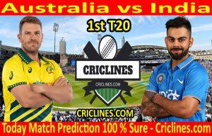 Today Match Prediction-Australia vs India-1st T20-Who Will Win