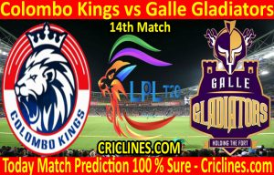 Today Match Prediction-Colombo Kings vs Galle Gladiators-LPL T20 2020-14th Match-Who Will Win