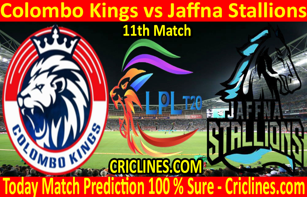 Today Match Prediction-Colombo Kings vs Jaffna Stallions-LPL T20 2020-11th Match-Who Will Win