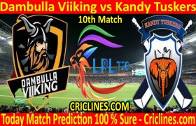 Today Match Prediction-Dambulla Viiking vs Kandy Tuskers-LPL T20 2020-10th Match-Who Will Win
