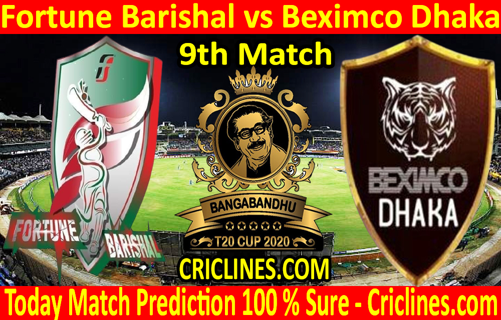 Today Match Prediction-Fortune Barishal vs Beximco Dhaka-B T20 Cup 2020-9th Match-Who Will Win
