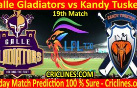 Today Match Prediction-Galle Gladiators vs Kandy Tuskers-LPL T20 2020-19th Match-Who Will Win