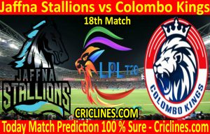 Today Match Prediction-Jaffna Stallions vs Colombo Kings-LPL T20 2020-18th Match-Who Will Win