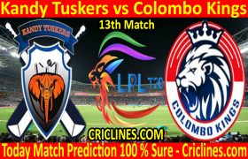 Today Match Prediction-Kandy Tuskers vs Colombo Kings-LPL T20 2020-13th Match-Who Will Win