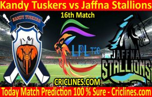 Today Match Prediction-Kandy Tuskers vs Jaffna Stallions-LPL T20 2020-16th Match-Who Will Win