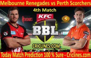 Today Match Prediction-Melbourne Renegades vs Perth Scorchers-BBL T20 2020-21-4th Match-Who Will Win