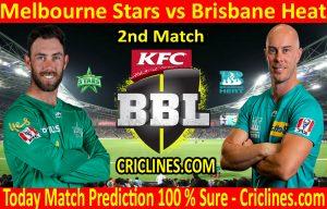 Today Match Prediction-Melbourne Stars vs Brisbane Heat-BBL T20 2020-21-2nd Match-Who Will Win