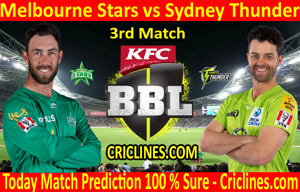 Today Match Prediction-Melbourne Stars vs Sydney Thunder-BBL T20 2020-21-3rd Match-Who Will Win