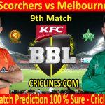 Today Match Prediction-Perth Scorchers vs Melbourne Stars-BBL T20 2020-21-9th Match-Who Will Win