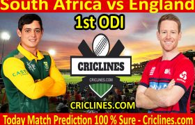Today Match Prediction-South Africa vs England-1st ODI 2020-Who Will Win