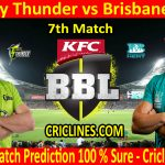 Today Match Prediction-Sydney Thunder vs Brisbane Heat-BBL T20 2020-21-7th Match-Who Will Win