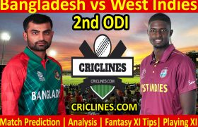 Today Match Prediction-Bangladesh vs West Indies-2nd ODI 2021-Who Will Win