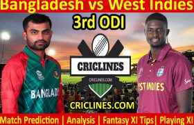 Today Match Prediction-Bangladesh vs West Indies-3rd ODI 2021-Who Will Win