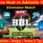 Today Match Prediction-Brisbane Heat vs Adelaide Strikers-BBL T20 2020-21-Eliminator-Who Will Win
