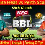 Today Match Prediction-Brisbane Heat vs Perth Scorchers-BBL T20 2020-21-54th Match-Who Will Win