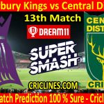 Today Match Prediction-Canterbury Kings vs Central Districts-Super Smash T20 2020-21-13th Match-Who Will Win