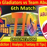 Today Match Prediction-Deccan Gladiators vs Team Abu Dhabi-T10 League-6th Match-Who Will Win