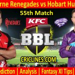 Today Match Prediction-Melbourne Renegades vs Hobart Hurricanes-BBL T20 2020-21-55th Match-Who Will Win
