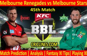 Today Match Prediction-Melbourne Renegades vs Melbourne Stars-BBL T20 2020-21-45th Match-Who Will Win