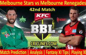 Today Match Prediction-Melbourne Stars vs Melbourne Renegades-BBL T20 2020-21-42nd Match-Who Will Win