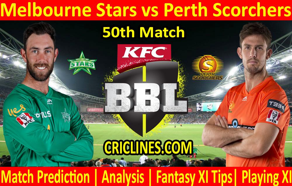 Today Match Prediction-Melbourne Stars vs Perth Scorchers-BBL T20 2020-21-50th Match-Who Will Win