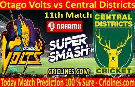 Today Match Prediction-Otago Volts vs Central Districts-Super Smash T20 2020-21-11th Match-Who Will Win