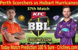Today Match Prediction-Perth Scorchers vs Hobart Hurricanes-BBL T20 2020-21-37th Match-Who Will Win