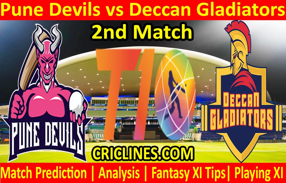 Today Match Prediction-Pune Devils vs Deccan Gladiators-T10 League-2nd Match-Who Will Win